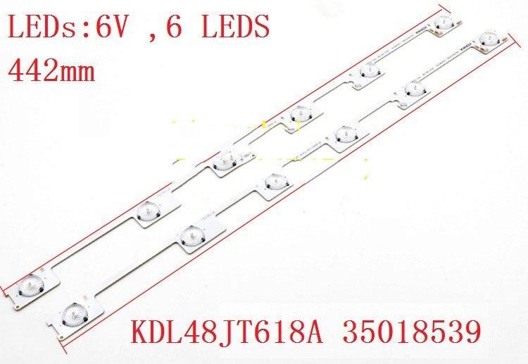 1-80 шт./лот светодиодные полосы бар огни работает для KDL48JT618U KDL48JT618A 35018539 35018540 35018541 6 светодиодов * 6 в 44,2 см смотреть на Алиэкспресс Иркутск в рублях