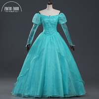 Free Shipping The Little Mermaid Ariel Princess Fashion Dress Cosplay Costume For Women Halloween Party Custom Made