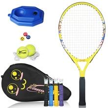racket tennis Barnas profesjonelle tennisracket Racquet Sports Training Raquete med veske til barn (4-6år)