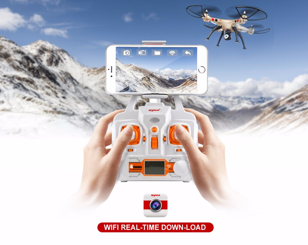 SYMA Official X8HW FPV RC Drone with WiFi HD Camera Real-time Sharing Drones Helicopter Quadcopter Dron with Hovering Function 16
