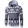 New Arrival Men Printing 3D Geometry Hoodies With Hood High Quality male Casual Slim Autumn Sweatshirt With Zipper hoodies men