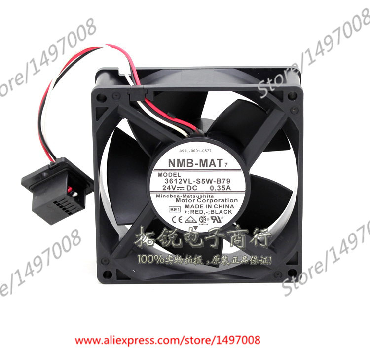 Free Shipping For NMB  3612VL-S5W-B79, BE1  DC 24V 0.35A 3-wire connector 70mm 90X90X32mm Server Square fan вентилятор напольный aeg vl 5569 s lb 80 вт