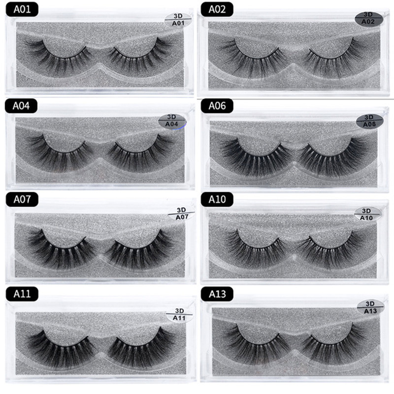 Lash Mink Eyelashes 3D Mink Hair Lashes Wholesale Real Mink Fur Handmade Crossing Lashes Thick Lash Makeup 13 Styles 1 Pair