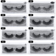 Lash Mink Eyelashes 3D Mink Hair Lashes Wholesale Real Mink Fur Handmade Crossing Lashes Thick Lash Makeup 13 Styles 1 Pair(China)