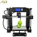 Новый Анет A6/A8 Алюминиевый Очаг Точности Reprap Prusa i3 DIY Kit 3d-принтер С Бесплатным 10 м Нити Карты Программное Обеспечение