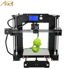 Nueva Anet A6/A8 Aluminio Semillero Precisión Reprap Prusa i3 DIY 3d Kit de Impresora Con Envío 1 Rollo de Filamento Software de la tarjeta