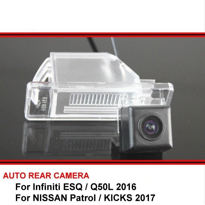 For Infiniti ESQ Q50L 2016 NISSAN Patrol KICKS 2017 Trasera Night Vision Rear View Reversing Camera Car Back Up Camera HD CCD