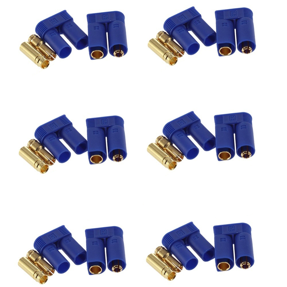 цена на 5set/lot EC3 3mm/EC5 5mm Male-Female Type Battery Connector Golden Battery Connector Bullet Plug