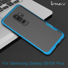 Ipaky For Samsung Galaxy S9 Case Armor Electroplated Bumper TPU Hybrid Shockproof Back Cover For Samsung Galaxy S9 Plus Case