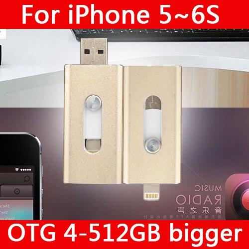 High-Speed Lightning Otg Usb Flash Drive 512GB 128GB For IPhone 5/5s/6p/7 Plus/8 Cle Usb Stick Memory Card Pendrive 64GB 32GB