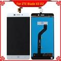 Черный/Белый ЖК-Дисплей Для ZTE Blade X3 D2 T620 A452 ЖК-Дисплей с Сенсорным Экраном Дигитайзер Ассамблеи Бесплатные Инструменты,