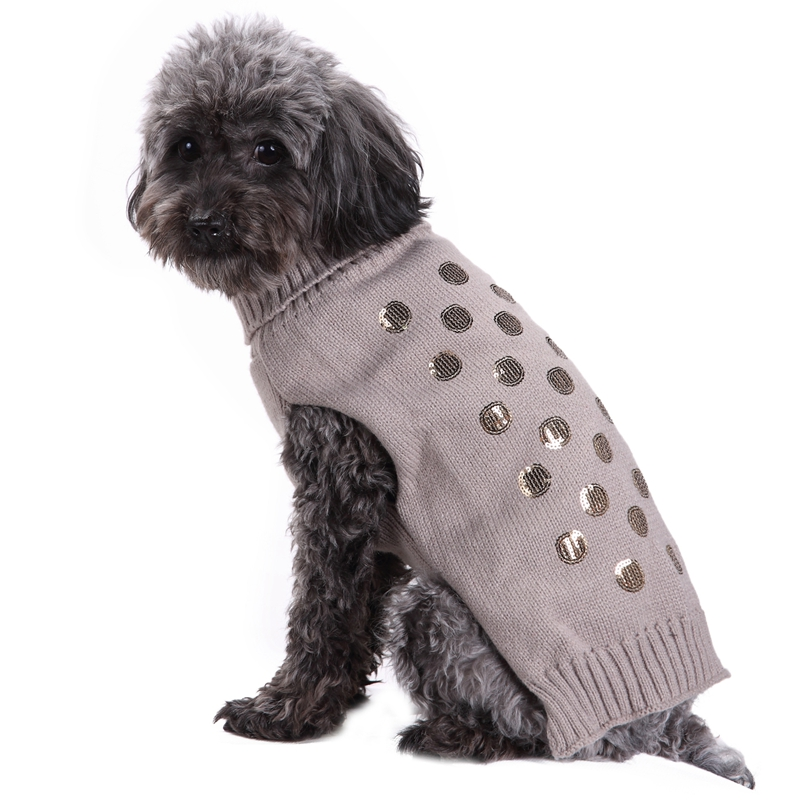Gray Small Large Dog Clothes Chihuahua Pet Cat Knitwear Dog Sweater Puppy Warm Coat Cheap Clothing for Dogs Winter Doggy Costume