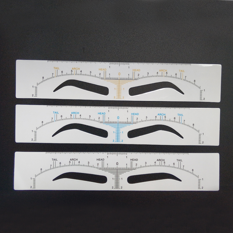 Disposable Eyebrow Ruler Sticker Permanent Makeup Accessories Measuring Tool Microblading Eyebrow Shaping Stencil Micro Supplies