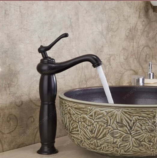 BECOLA Bathroom faucet black basin faucet Heightening the tap ...