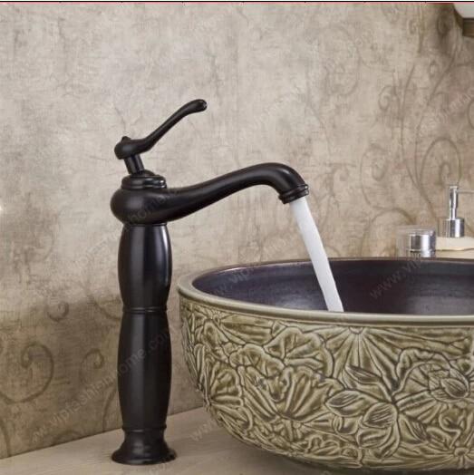 Becola salle de bains robinet noir robinet de bassin surélévation