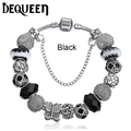 6 Colors European Fashion Glass Beads Jewelry Crystal pand Charm Bracelets for Women Original DIY Hand Accessories 1pcs/lot