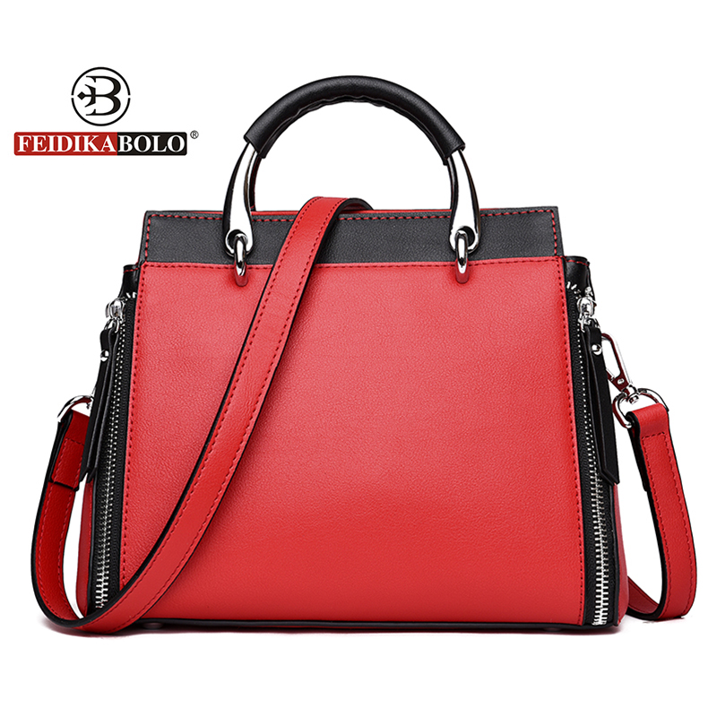Women Genuine Leather Handbags Panelled Crossbody Bag Quality Women's Cow Leather Tote Bags Female Vintage Handbag New 2018 chispaulo women genuine leather handbags cowhide patent famous brands designer handbags high quality tote bag bolsa tassel c165