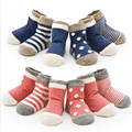 (8 unids/lote = 4 par) 85% algodón calcetines de Bebé bebé calcetines del niño recién nacido calcetines del piso calcetines del bebé del algodón Sin hueso promovido