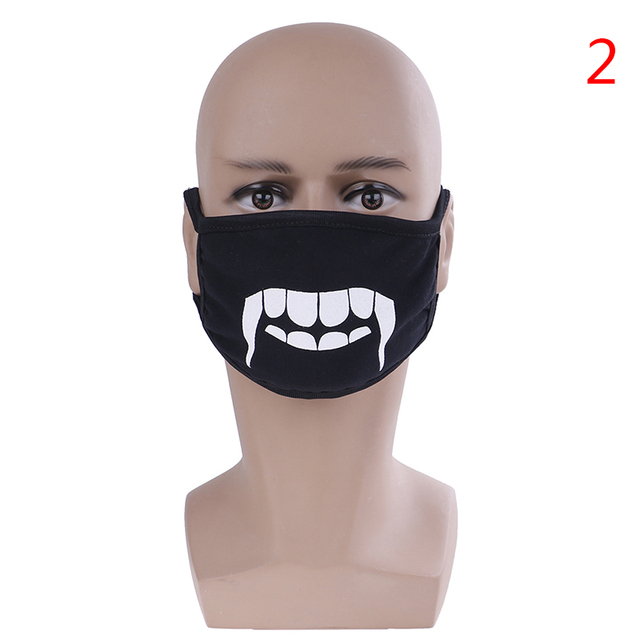 Unisex Black Anti-Dust Cute Bear Cotton Mouth Face Mask Respirator For Cycling Anime Cartoon Kpop Lucky Bear Women Men Muffle 2