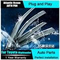 AUTO PRO 2015 For toyota Highlander car styling rain gear shield new Highlander dedicated windows rain shine file conversion