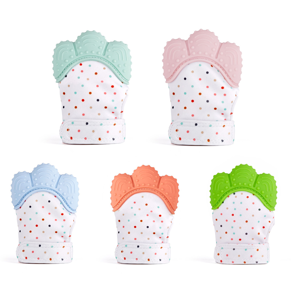 1 Piece Baby Silicone Teether Newborn Pacifier Gloves Infant Teething Chewing Mitten Toddler Teeth Nursing Safety Accessories