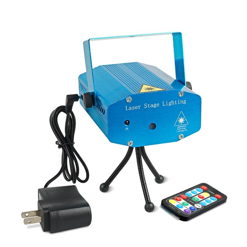 BRIGHTINWD Portable 110-240V R&G Red Green Laser Projector Stage Light Night Club Lighting Home Party DJ Disco EU Plug