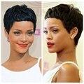 Celebrity pelo humano de la virgen extensión del pelo brasileño barato tejer corto 27 unidades para las mujeres negras del pelo humano de la belleza del pelo
