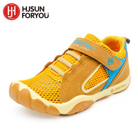 Hot Sale 2015 Summer Mesh Children Sneakers Cowhide Leather Child Casual Shoes Fashion Sport Shoes Boys