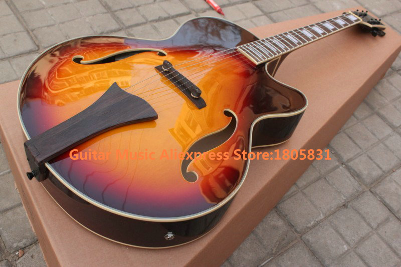 chinese guitars newest semi hollow guitar with eq pickups acoustic electric guitar free shipping. Black Bedroom Furniture Sets. Home Design Ideas