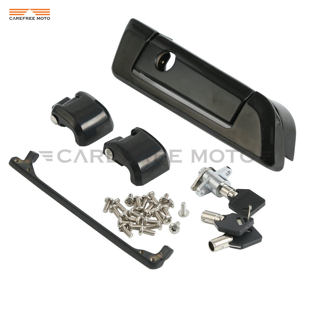 Black Motorcycle Tour Pak Hinges and Latch Kit Case for Harley Touring Road King Glide 2014