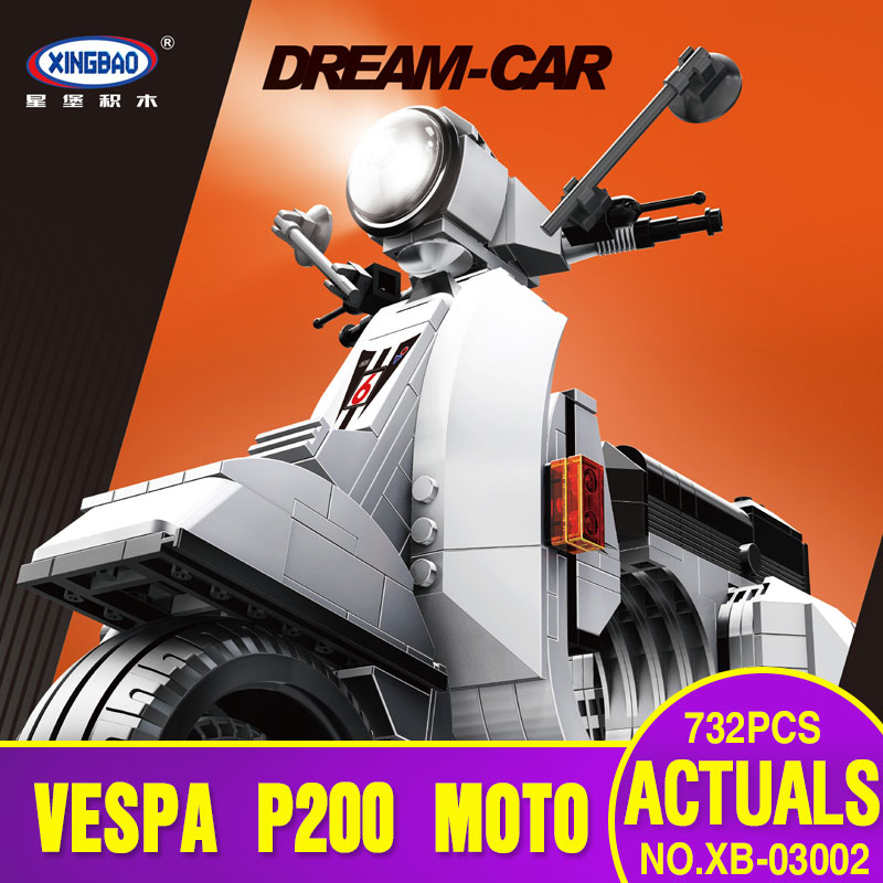 X Model Compatible with X03002 732Pcs Vespa Models Building Kits Blocks Toys Hobby Hobbies For Boys