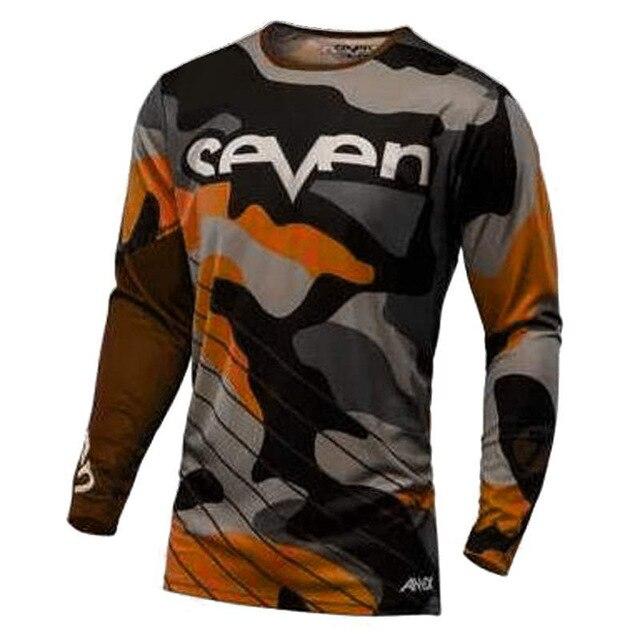 Moto Jersey Dh-Shirt Mx Clothing Downhill-Camiseta Mtb Mountain-Bike Long-Sleeve Camouflage-Seven