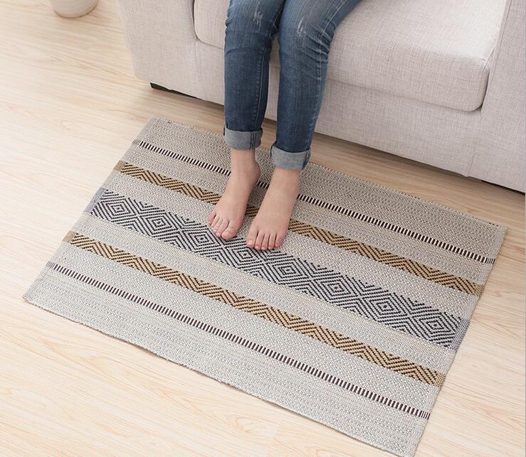 Cotton Carpet Living Room Dining Bedroom Area Rugs Anti: Modern Cotton Carpet Mat Rug Floor Rug Living Room Bedroom