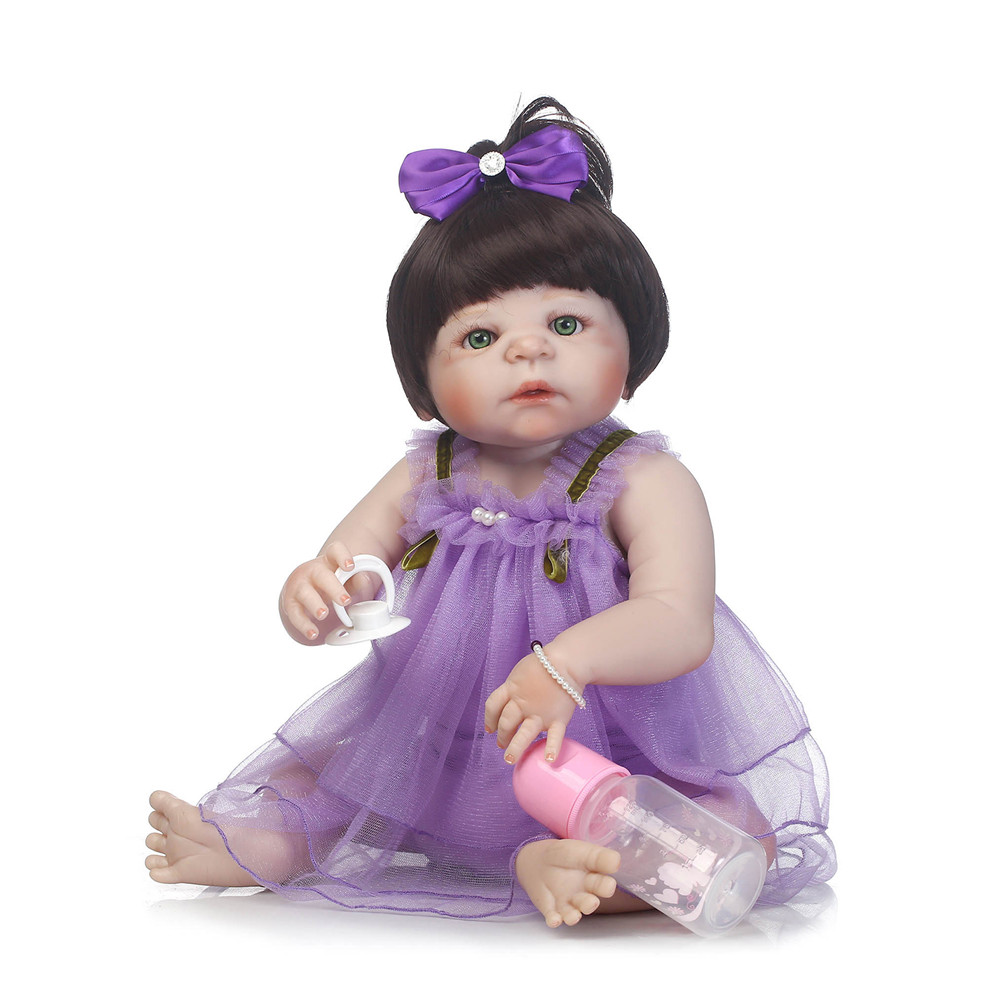 Bebe dolls full body silicone reborn baby dolls 23 new born girl dolls for child gift baby toy brinquedos   bonecasBebe dolls full body silicone reborn baby dolls 23 new born girl dolls for child gift baby toy brinquedos   bonecas