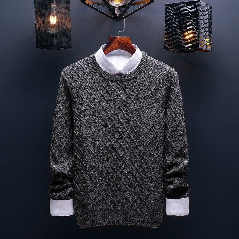 Социальные хлопок тонкий мужской пуловер Свитера повседневные крючком полосатый вязаный свитер для мужчин masculino Джерси