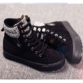 Winter new style high-help women's cotton shoes, Korean thick canvas casual flat warm boots for students young ladies