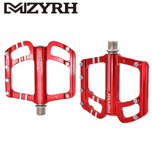 цена на MZYRH X3 MTB Mountian Bike Platform Pedals 9/16 inch Axle Cycling Aluminum Alloy CNC Machined Sealed Bearing Bicycle Pedals