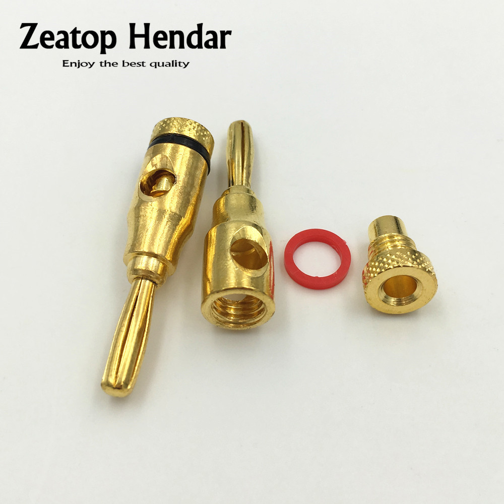 buy 10pcs 24k gold plated musical speaker cable wire pin 4mm banana plug. Black Bedroom Furniture Sets. Home Design Ideas