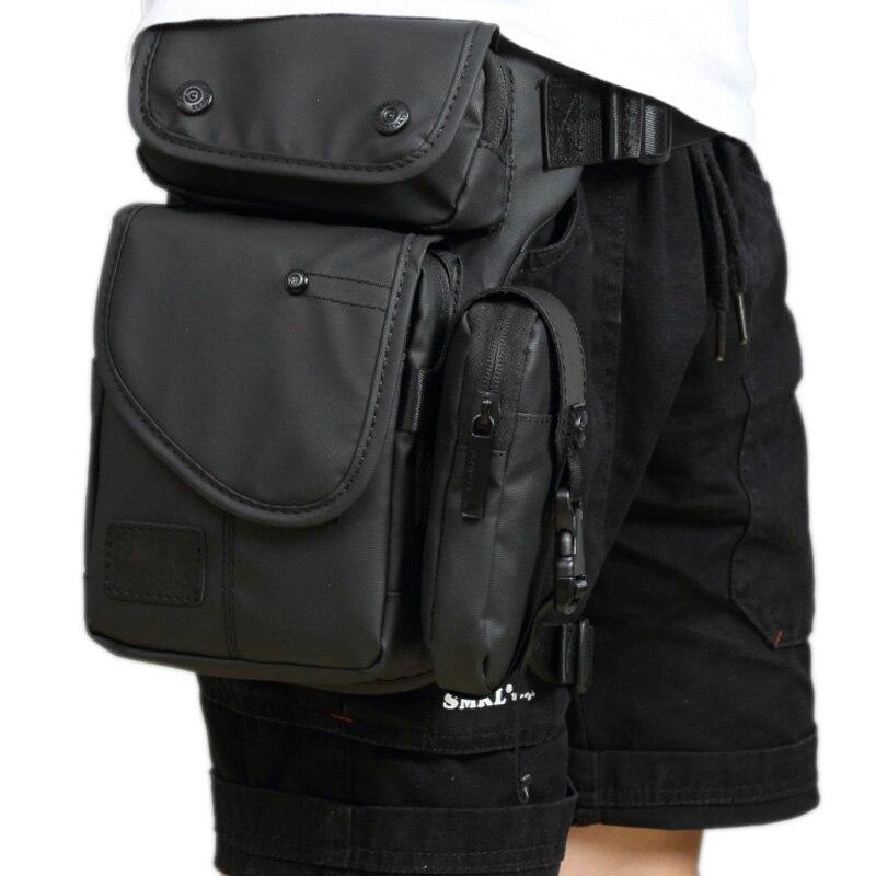 High Quality Men Waterproof Nylon/Canvas Waist Fanny Pack Travel Cross Body Shoulder Motorcycle Ride Hip Bum Belt Drop Leg Bag