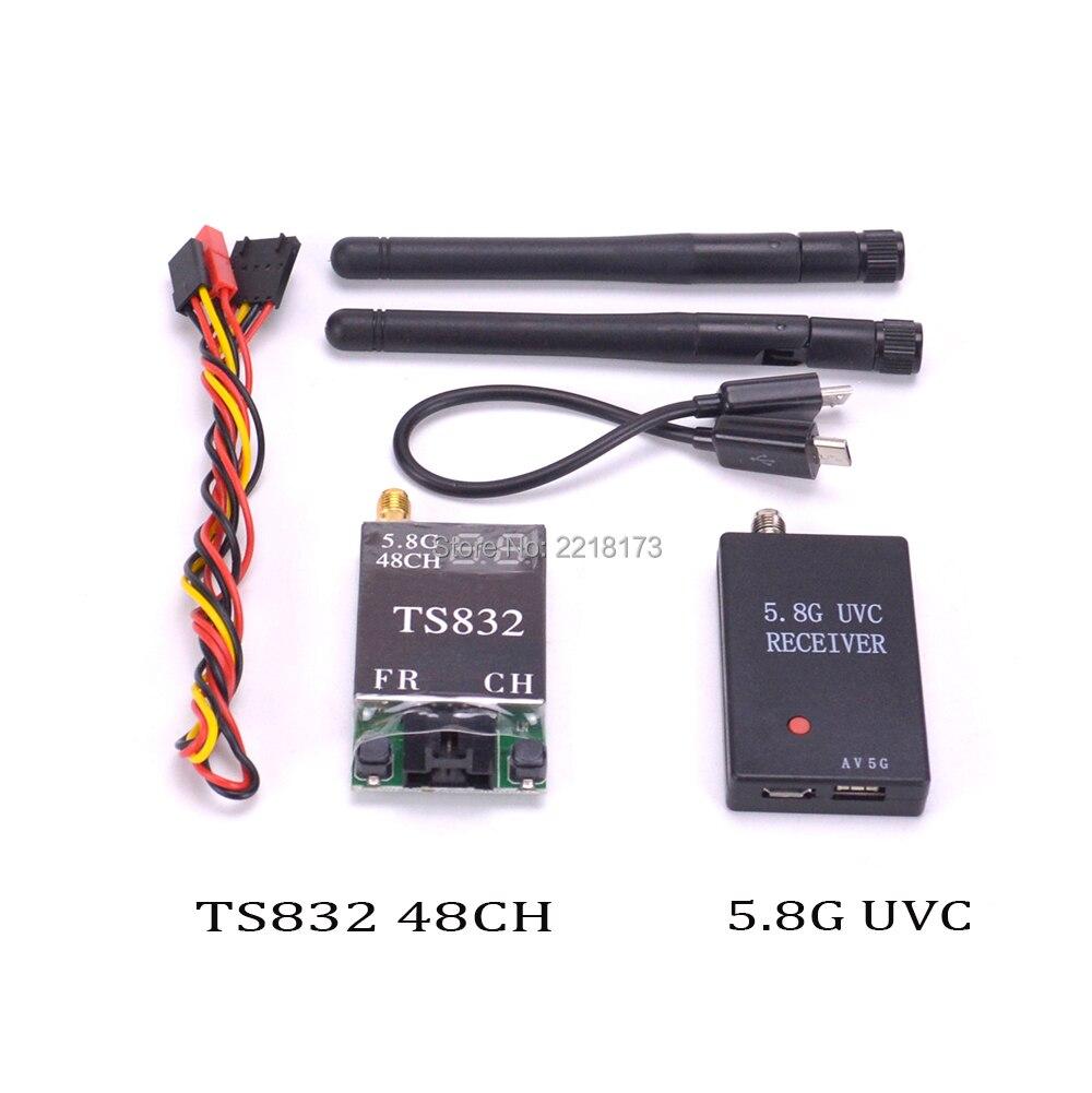 Mini 5,8g FPV receptor UVC vídeo Downlink OTG VR teléfono y TS832 FPV 5,8g 48CH 600 MW transmisor Inalámbrico AV para FPV