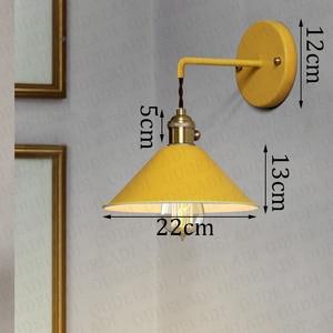 Image 5 - נורדי מודרני קיר אור מטריית מסעדה קישוט Macarons קיר מנורת סלון חדר שינה מעבר מדרגות המיטה בית תפאורה