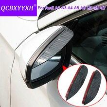 QCBXYYXH для Audi A1 A3 A4 A5 A6 Q3 Q5 Q7 стайлинга автомобилей углеродного Зеркало заднего вида декоративные водосточные Шестерни зеркало заднего вида заднего зеркала для бровей