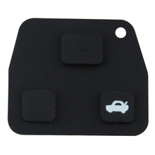 MAYITR 1PC 3 Button Remote Rubber Car Key Pad Case Shell Replacement for Toyota Corolla Lexus Rav4