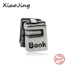 Fit Authentic Silver Pandora Bracelet 925 Original Charm Antique Beads book for student Jewelry birthday Gifts