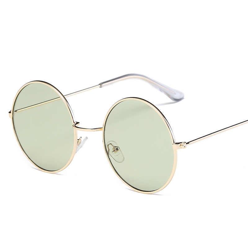 8575d169ae5 ... Vintage Round Sunglasses Women Ocean Color Lens Mirror Sunglasses Female  Brand Design Metal Frame Circle Glasses ...