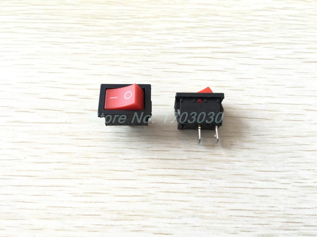 200 pcs Rocker Switch KCD1 ON/OFF Red Cap 2pin 8A/2A 250V 21x15mm кулисный переключатель sd 2 2pin kcd1 105