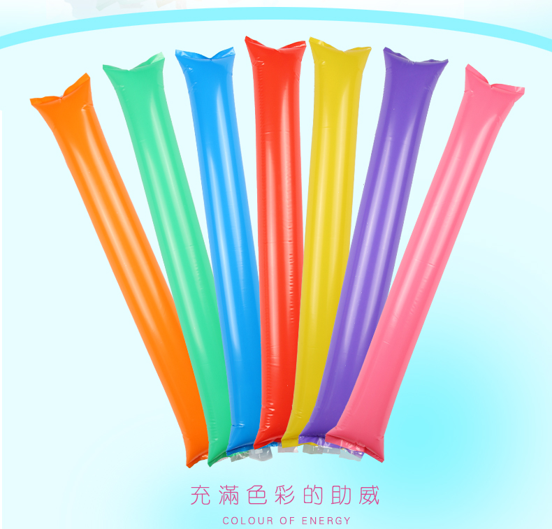 1600pcs Inflatable Cheer Sticks cheerleaders Inflatable Stick Against Cheering Sticks dance concert party Noise Maker ballon