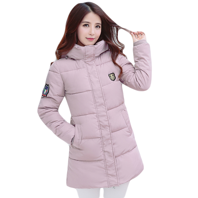 Women Winter Jacket Coat 2017 Fashion Cotton-padded Jacket Long Style Female Hooded Thick Slim Parkas Plus Size Outwear CM0612 m 4xl 2015 new fashion women winter down cotton padded coat female long slim thick jacket hooded zipper pocket outwear zs355
