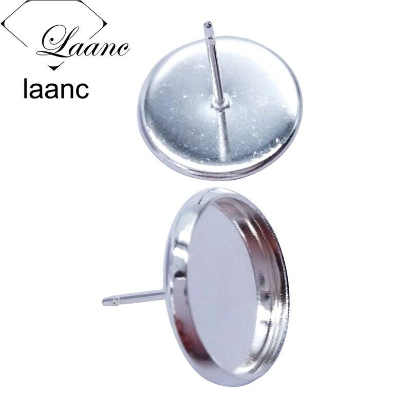 500piece Silver/Gunmetal Black/Antique Bronze/Rhodium/Rose Gold Stud Posts Earring Blank Setting Findings Rubber Stopper Backs