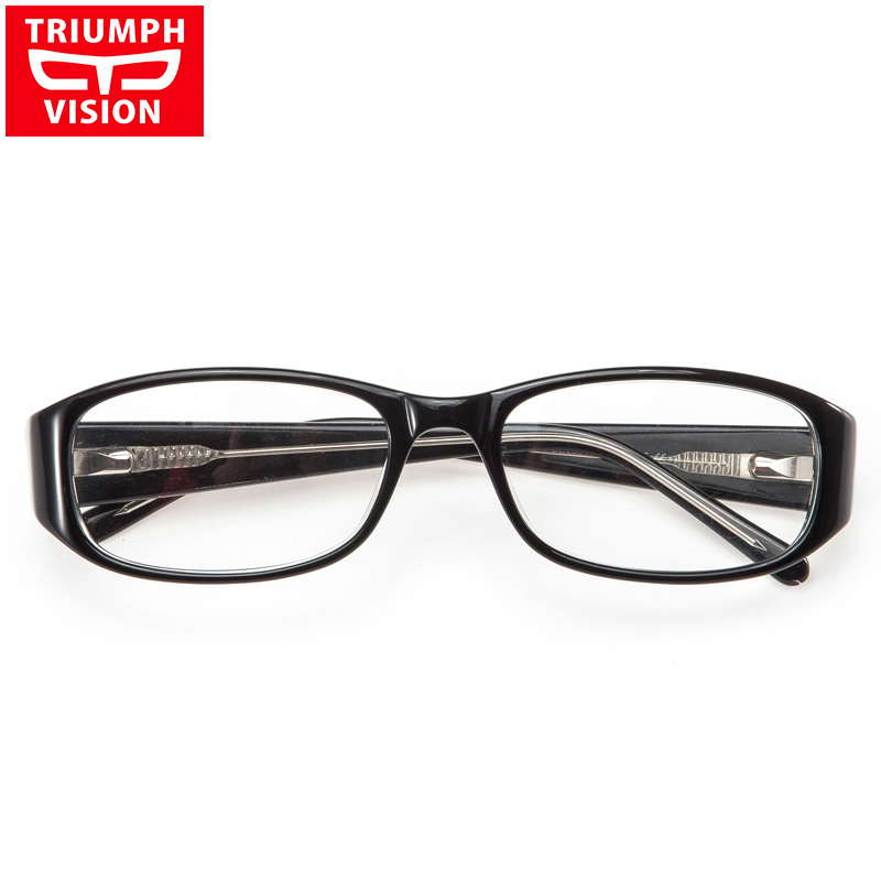 37f52d610b TRIUMPH VISION Reading Glasses Black Myopia Spectacles Computer Eyeglasses  Oval Eyewear Prescription Clear Lentes Sight Wide Leg-in Prescription  Glasses ...